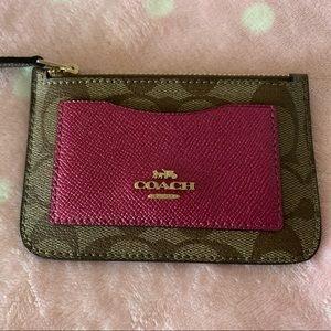 Coach Bags - COACH Zip Top Card Case In Colorblock NWT